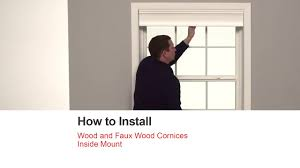 Faux Wood Cornice Valance Bali Blinds How To Install Wood And Faux Wood Cornices Inside