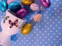 Mini Easter Eggs Decorations by Foil Wrapped Chocolate Easter Eggs In A Blue Floral Toy Tin