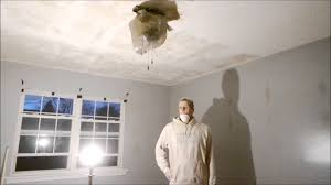 removing popcorn ceiling and re painting entire room my husband