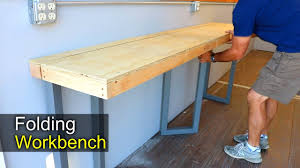 folding work table home depot workbench wall mounted folding workbench fold down workbench