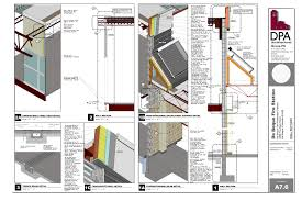 fire station wall section developed in sketchup and layout