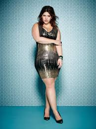 plus size model denise bidot wearing the sparkling mxm sequin