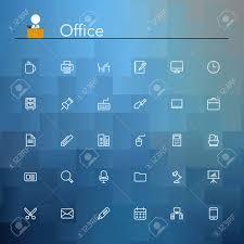 icones de bureau icônes de bureau et de lieu de travail mis en ligne vector