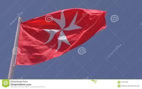 Matla Flag National Flag Civil Ensign Of Malta Isolated Stock Footage Video