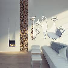 mirror decals home decor cute home decor free shipping creative self adhesive cheap 3d