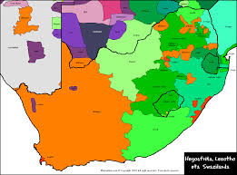 Map Of South Africa by Languages In South Africa Lesotho And Swaziland Maps Of Africa