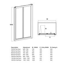 700mm to 1200mm walney bi fold shower doors 190 at cheap suites