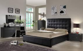 Platform Bed Led Elegant Black Combine Golden Nightstand Queen Size Platform Bed