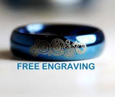doctor who wedding ring reserved for edwin gonzalez blue doctor who inspired 2mm tungsten