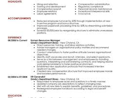 resume director human resources resume awesome hr resume
