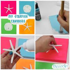 diy starfish canvases summer room decor a little craft in your day diy starfish canvases