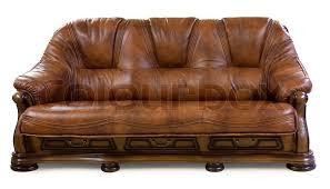 vintage leather sofa isolated on white stock photo colourbox