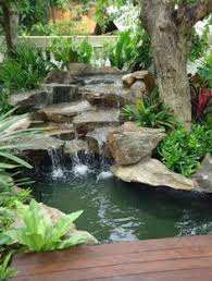 Pictures Of Backyard Ponds by Backyard Waterfall Waterfall Lighting Pond And Waterfall