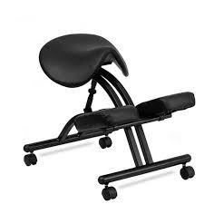 siege pour bureau moderne ergonomique genoux chaise avec noir selle siège et