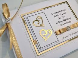 anniversary guest book personalised golden wedding anniversary guest book