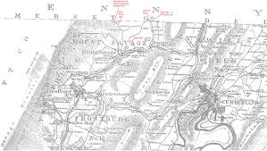 Md Map 1875 Allegany County Maryland Map