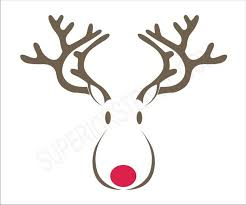christmas signs rudolph reindeer stencil 6 size options create your own
