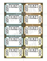 raffle ticket template with numbers free printable raffle ticket