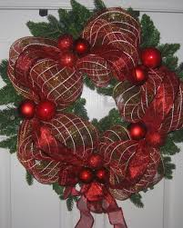 ribbon wreath ribbon mesh wrapped wreath diy project easy for beginners