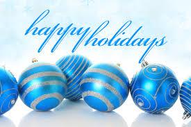 holidays blue christmas balls
