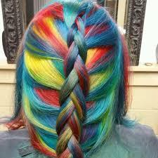 rainbow color hair ideas popular hair color trends and styles 2015