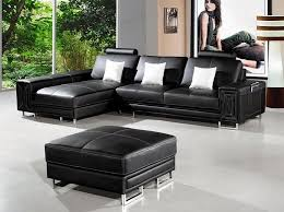 modern black leather sectional sofa troy leather sectionals