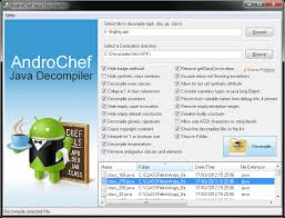 decompile apk androchef java decompiler decompile apk d android
