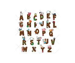 wooden alphabet vector pack royalty free font abc wooden