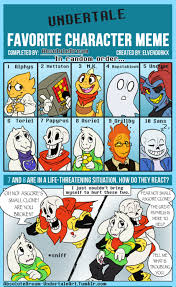 Favorite Character Meme - undertale fanart i started this two years ago then i restarted a