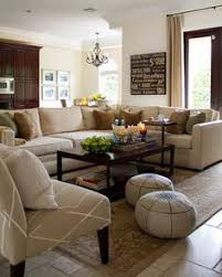 Morrison Fairfax Interiors Lovely Blue And Brown Living Room With - Color schemes for family rooms
