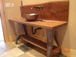 Industrial Vanity Table Industrial Vanity Industrial Bathroom Other By Hearthwoods