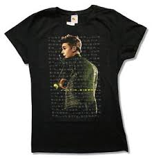 Back Portrait - justin bieber turned back portrait juniors black t shirt