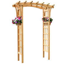 Lowes Pergola Plans by Shop Garden Treasures 64 In W X 86 25 In H Stain Natural Pergola