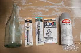 Diy Plastic Bottle Vase Diy Wintry Frosted Glass Vase