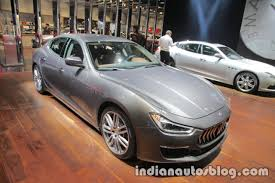 maserati sedan 2018 2018 maserati ghibli granlusso front quarter showcased at iaa 2017