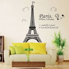 Eiffel Tower Wallpaper For Walls Bedroom Home Decor Removable Paris Eiffel Tower Art Decal Wall