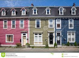 row houses st john u0027s newfoundland stock image image 10190461