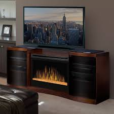 Electric Fireplace Entertainment Center Dimplex Acton Walnut Electric Fireplace Media Console Glass Embers