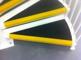 flooring spiral black yellow non slip stair treads non slip stair