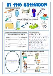 Things In The Bathroom Bathroom Vocabulary Exercises Worksheet Free Esl Printable
