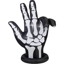gemmy airblown inflatable 7 u0027 x 6 u0027 animated skeleton hand halloween