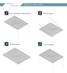 Wall Pergola Kits by Louvered Pergola Roof Kits Buy Pergola Cover Pergola Canopy