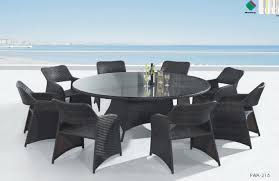 6 8 seater round dining table round outdoor dining sets for 8 outdoor designs