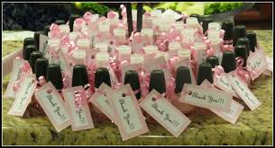 parrish family sophia elizabeth s baby shower you could choose from pink fingernail polish or pink bath body works hand sanitizer
