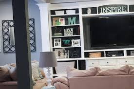 home center decor the basement built in entertainment center bookshelves