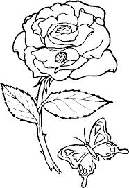 hearts roses coloring pages rose coloring image