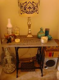sewing machine table ideas vintage sewing machine base becomes a small table hometalk