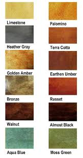 Stain Color Chart Concrete Coating Color Chart Stained Concrete Houston