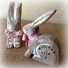 bunny home decor floral burlap bunny door hanger easter