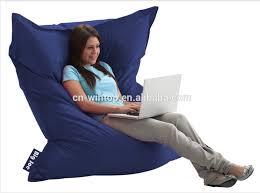 luckysac xxl bean bag chair large comfort bean bag bed mattress
